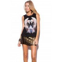 Camiseta angel calavera