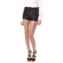 EMBELLISHED SEQUIN PARTY SHORT