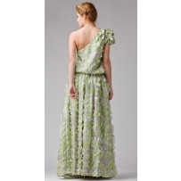 Falda con bordado flores