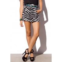 falda negra estampado cebra