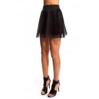 Falda skater negra de rejilla