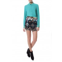 SKIRT MINI SEQUINS GEO