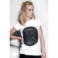 Camiseta Not Weird chica