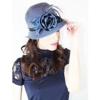 Sombrero Flor Plumas